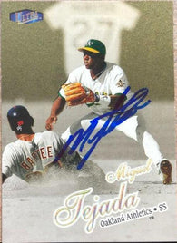 Miguel Tejada Signed 1998 Fleer Ultra Gold Medallion Baseball Card - Oakland A's