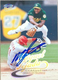 Miguel Tejada Signed 1999 Fleer Ultra Baseball Card - Oakland A's