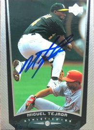 Miguel Tejada Signed 1999 Upper Deck Baseball Card - Oakland A's
