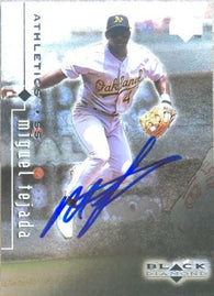 Miguel Tejada Signed 1999 Upper Deck Black Diamond Baseball Card - Oakland A's