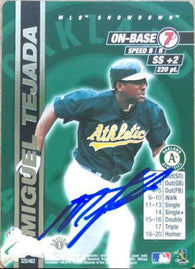 Miguel Tejada Signed 2000 MLB Showdown Baseball Card - Oakland A's