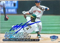 Miguel Tejada Signed 2000 Fleer Ultra Baseball Card - Oakland A's