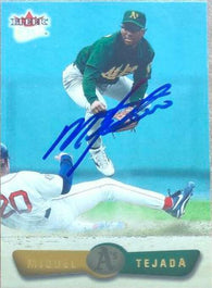 Miguel Tejada Signed 2002 Fleer Ultra Baseball Card - Oakland A's