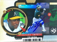 Miguel Tejada Signed 1998 Upper Deck Future Impact Baseball Card - Oakland A's