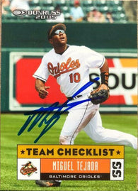 Miguel Tejada Signed 2005 Donruss Baseball Card - Baltimore Orioles