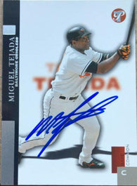 Miguel Tejada Signed 2005 Topps Pristine Baseball Card - Baltimore Orioles