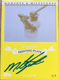 Miguel Tejada Signed 2007 Topps Moments & Milestones Printing Plate - Baltimore Orioles