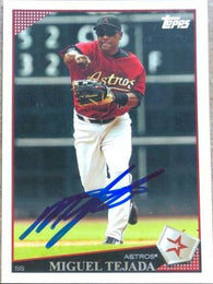 Miguel Tejada Signed 2009 Topps Baseball Card - Houston Astros