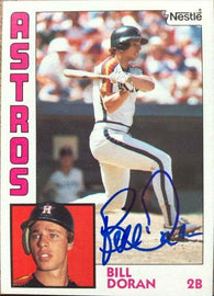 Bill Doran Signed 1984 Nestle Baseball Card - Houston Astros