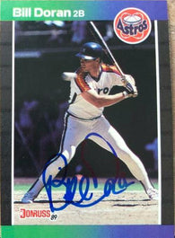 Bill Doran Signed 1989 Donruss Baseball Card - Houston Astros