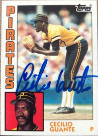 Cecilio Guante Signed 1984 Topps Tiffany Baseball Card - Pittsburgh Pirates