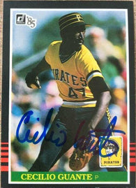 Cecilio Guante Signed 1985 Donruss Baseball Card - Pittsburgh Pirates