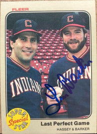 Len Barker Signed 1983 Fleer Baseball Card - Cleveland Indians