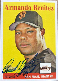 Armando Benitez Signed 2007 Topps Heritage Baseball Card - San Francisco Giants - PastPros