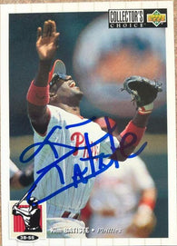 Kim Batiste Signed 1994 Collector's Choice Baseball Card - Philadelphia Phillies