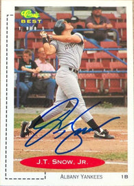 JT Snow Signed 1991 Classic Best Baseball Card