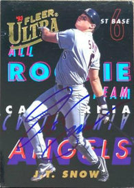 JT Snow Signed 1993 Fleer Ultra All-Rookies Baseball Card - California Angels