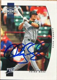 Aubrey Huff Signed 2005 Donruss Team Heroes Baseball Card - Tampa Bay Devil Rays