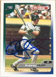 Aubrey Huff Signed 2005 Topps Total Baseball Card - Tampa Bay Devil Rays