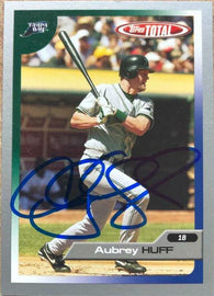 Aubrey Huff Signed 2005 Topps Total Silver Baseball Card - Tampa Bay Devil Rays