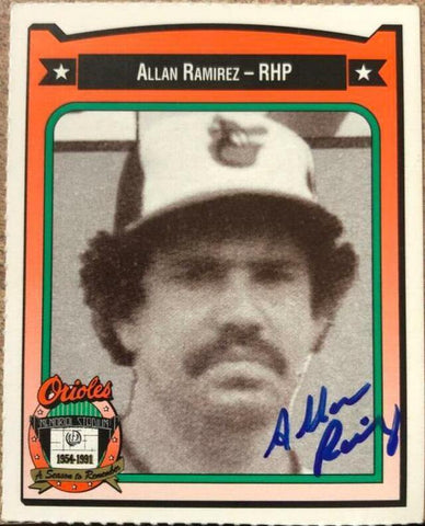 Allan Ramirez Signed 1991 Orioles Crown Baseball Card - Baltimore Orioles