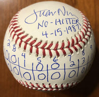 Juan Nieves No-Hitter Box Score Inscribed ROMLB Baseball
