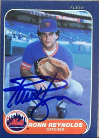 Ronn Reynolds Signed 1986 Fleer Baseball Card - New York Mets
