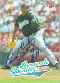 Armando Benitez Signed 2004 Fleer Ultra Baseball Card - Florida Marlins