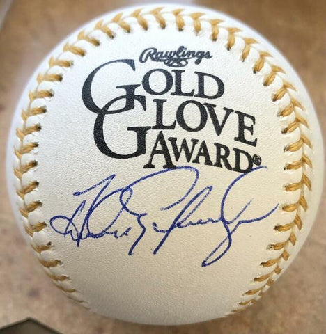 Andres Galarraga Signed Rawlings Official Gold Glove Baseball