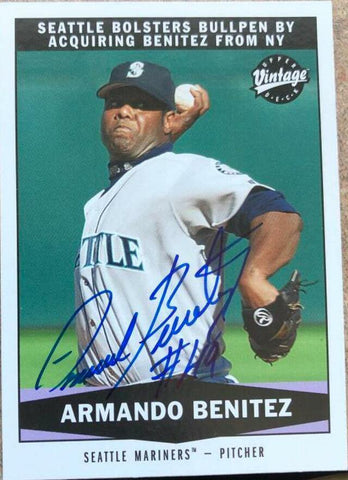 Armando Benitez Signed 2004 Upper Deck Vintage Baseball Card - Seattle Mariners