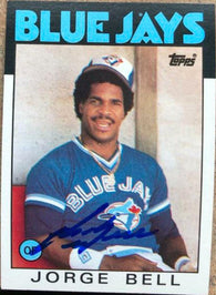 George Bell Signed 1986 Topps Baseball Card - Toronto Blue Jays