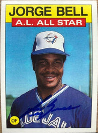 George Bell Signed 1986 Topps A/S Baseball Card - Toronto Blue Jays