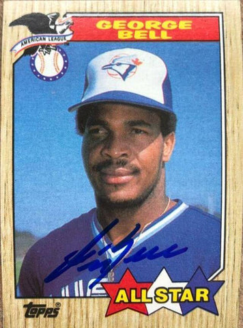 George Bell Signed 1987 Topps A/S Baseball Card - Toronto Blue Jays