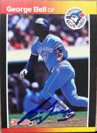 George Bell Signed 1989 Donruss Baseball Card - Toronto Blue Jays