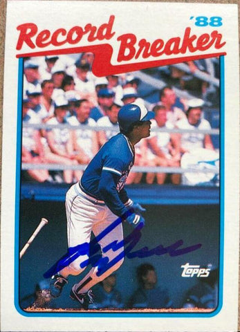 George Bell Signed 1989 Topps RB Baseball Card - Toronto Blue Jays