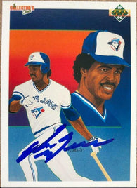 George Bell Signed 1990 Upper Deck Team Checklist Baseball Card - Toronto Blue Jays