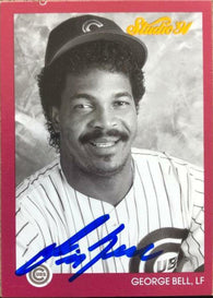 George Bell Signed 1991 Studio Baseball Card - Chicago Cubs