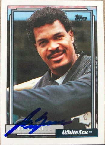 George Bell Signed 1992 Topps Baseball Card - Chicago White Sox
