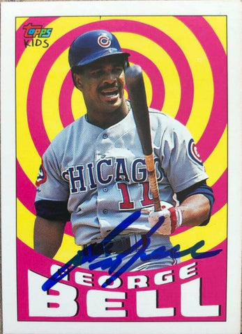 George Bell Signed 1992 Topps Kids Baseball Card - Chicago Cubs