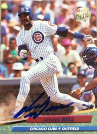 George Bell Signed 1992 Fleer Ultra Baseball Card - Chicago Cubs