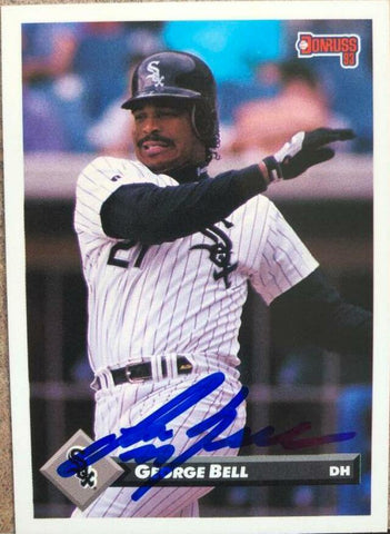George Bell Signed 1993 Donruss Baseball Card - Chicago White Sox
