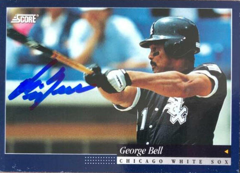 George Bell Signed 1994 Score Baseball Card - Chicago White Sox