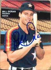 Bill Doran Signed 1989 Mother's Cookies Baseball Card - Houston Astros