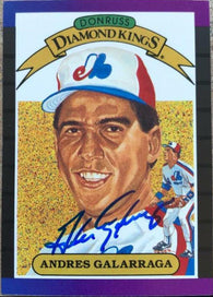 Andres Galarraga Signed 1989 Donruss Diamond Kings Baseball Card - Montreal Expos