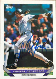 Andres Galarraga Signed 1993 Topps Baseball Card - Colorado Rockies
