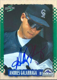 Andres Galarraga Signed 1995 Score Baseball Card - Colorado Rockies