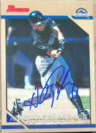Andres Galarraga Signed 1996 Bowman Baseball Card - Colorado Rockies