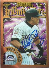 Andres Galarraga Signed 1996 Topps Finest Baseball Card - Colorado Rockies