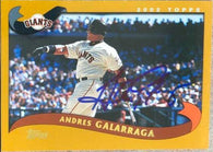 Andres Galarraga Signed 2002 Topps Baseball Card - San Francisco Giants