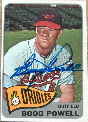 Boog Powell Signed 1965 Topps Baseball Card - Baltimore Orioles